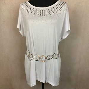 Design History | Studded Tee | White | XL